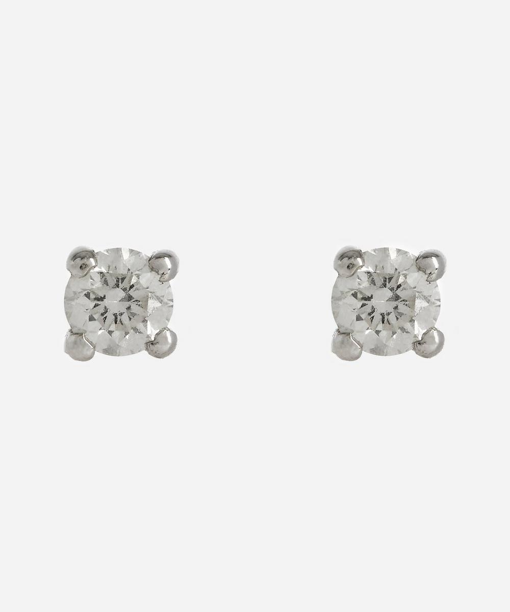 Kojis - White Gold 0.20ct Diamond Stud Earrings