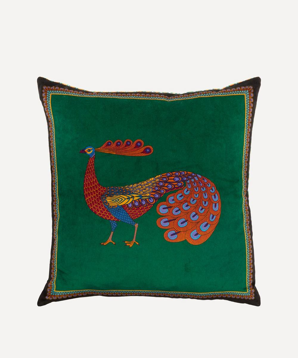 Liberty - Peacock Garden Velvet Cushion