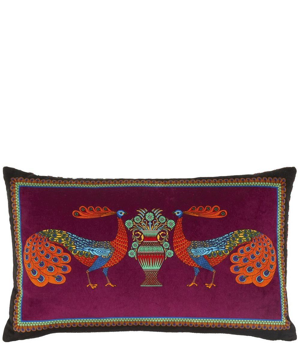 Liberty - Peacock Garden Velvet Bolster Cushion