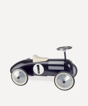 Black Vintage Ride-On Car