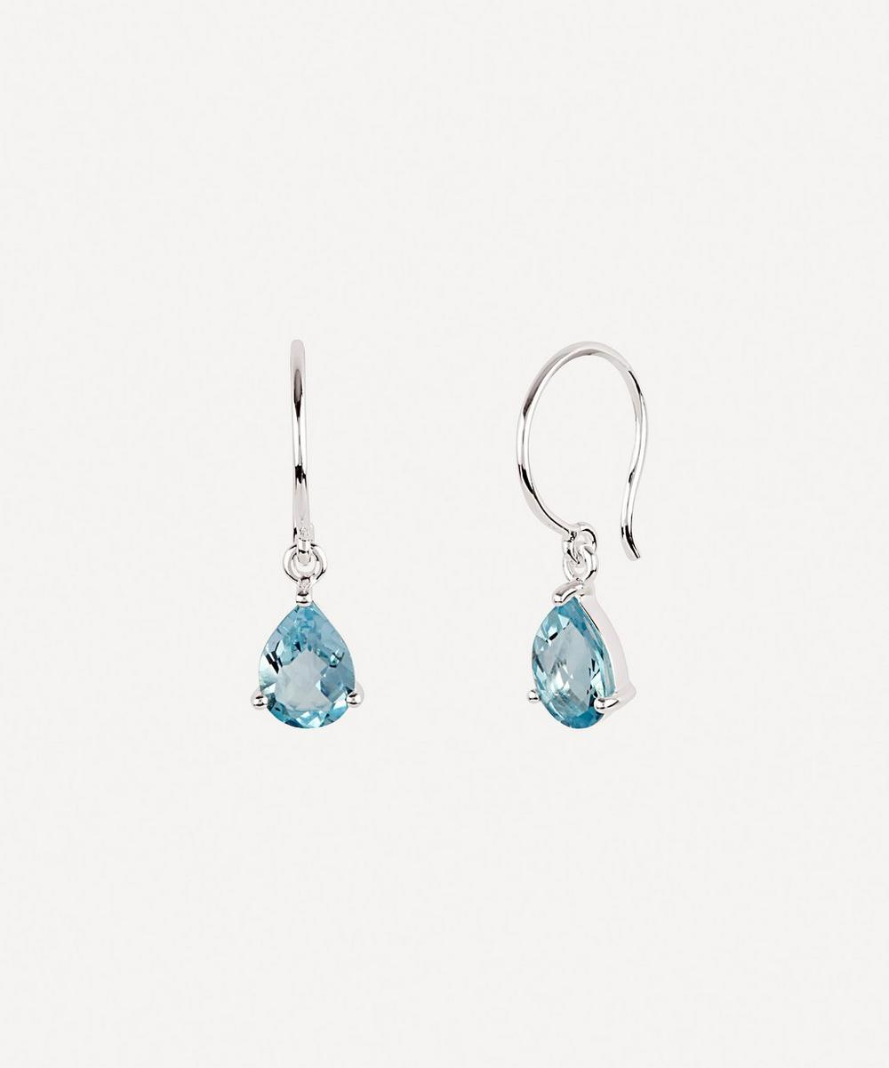 Dinny Hall - Silver Gem Drops Blue Topaz Drop Earrings