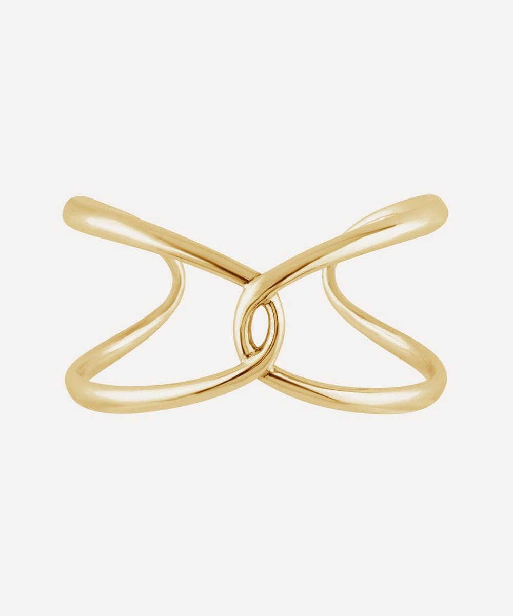 Dinny Hall - Gold Plated Vermeil Silver Twist Open Cuff Bracelet