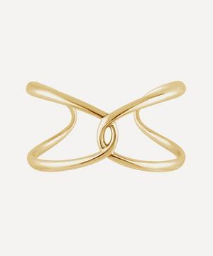 Gold Plated Vermeil Silver Twist Open Cuff Bracelet