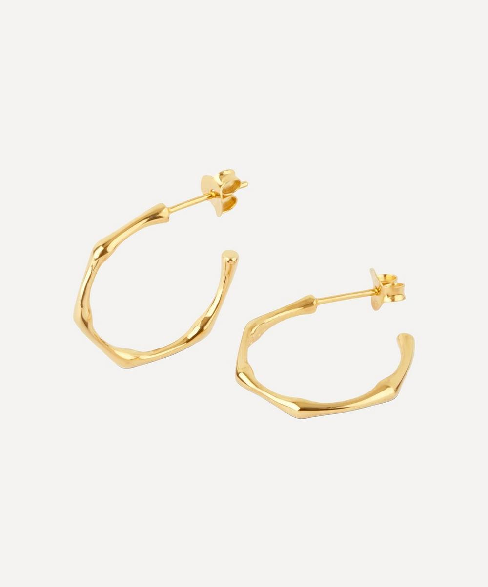 Dinny Hall - Gold-Plated Bamboo Small Hoop Earrings