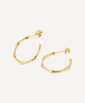 Gold-Plated Bamboo Small Hoop Earrings