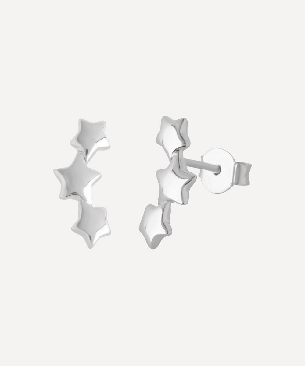 Dinny Hall - Silver Bijou Triple Star Earrings