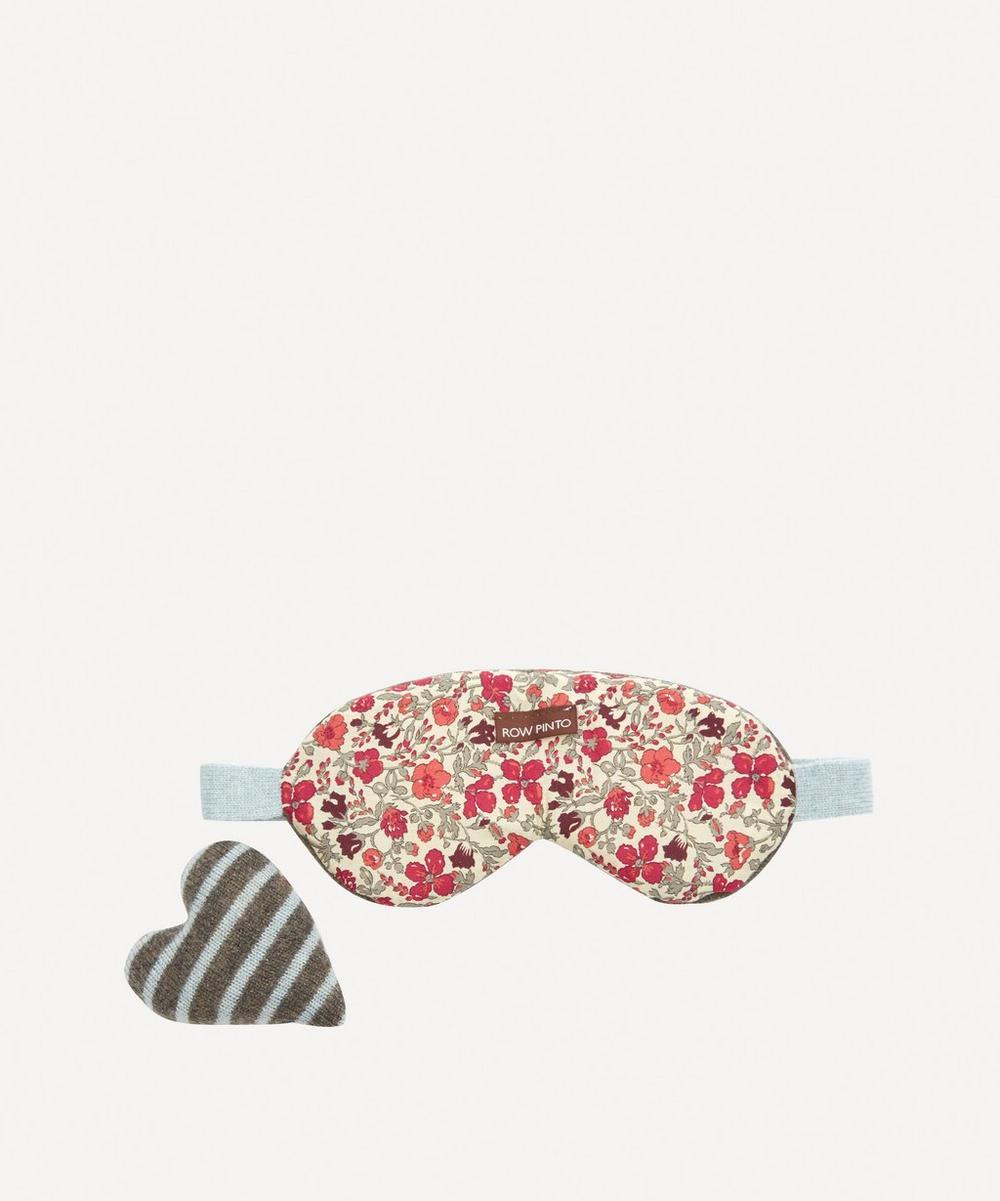 Row Pinto - Knitted Cashmere Liberty Print Eye Mask Set