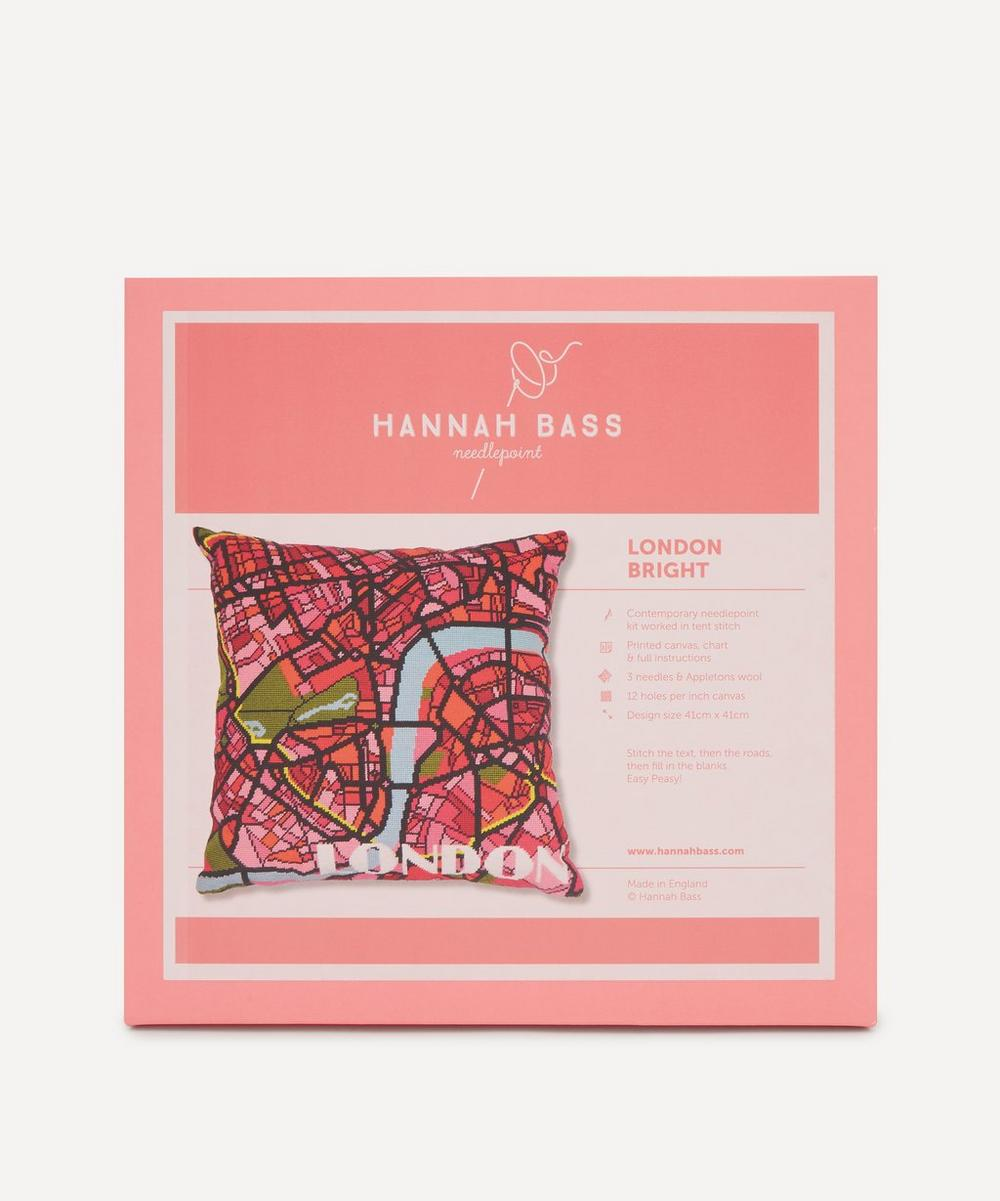Hannah Bass - London Bright Map Needlepoint Kit