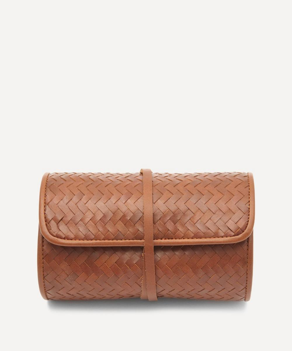 Mantidy - Woven Leather Herringbone Tech Roll