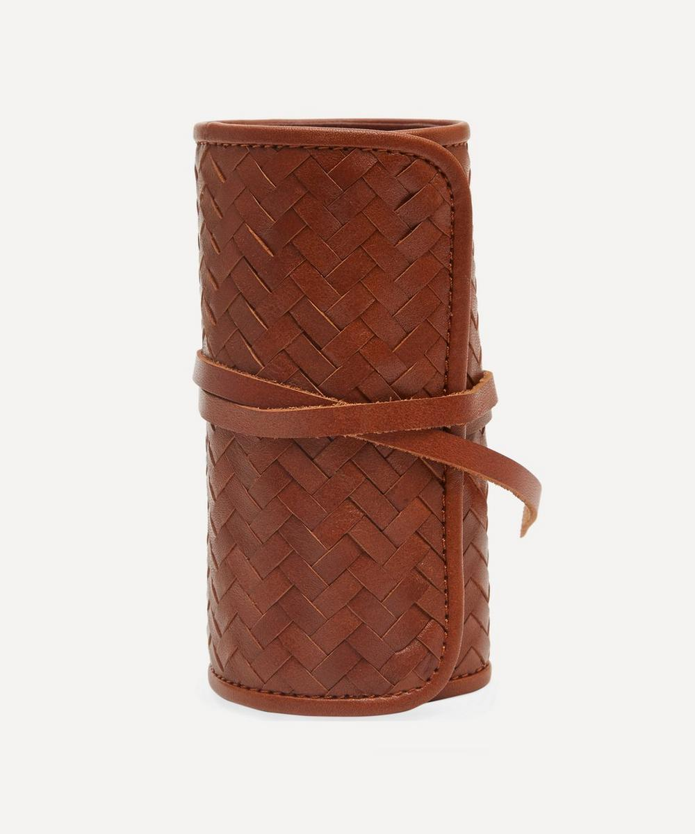 Mantidy - Woven Leather Herringbone Grooming Roll