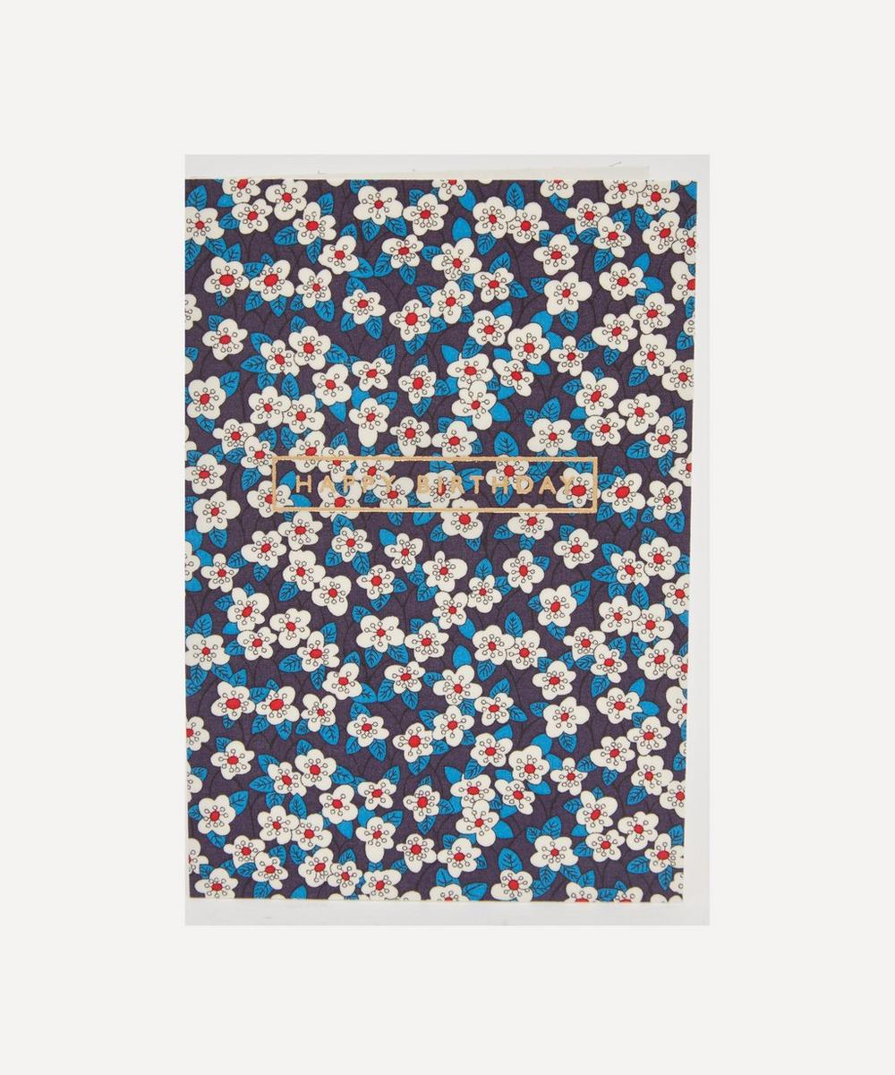 Liberty - Ffion Cotton-Covered Happy Birthday Card