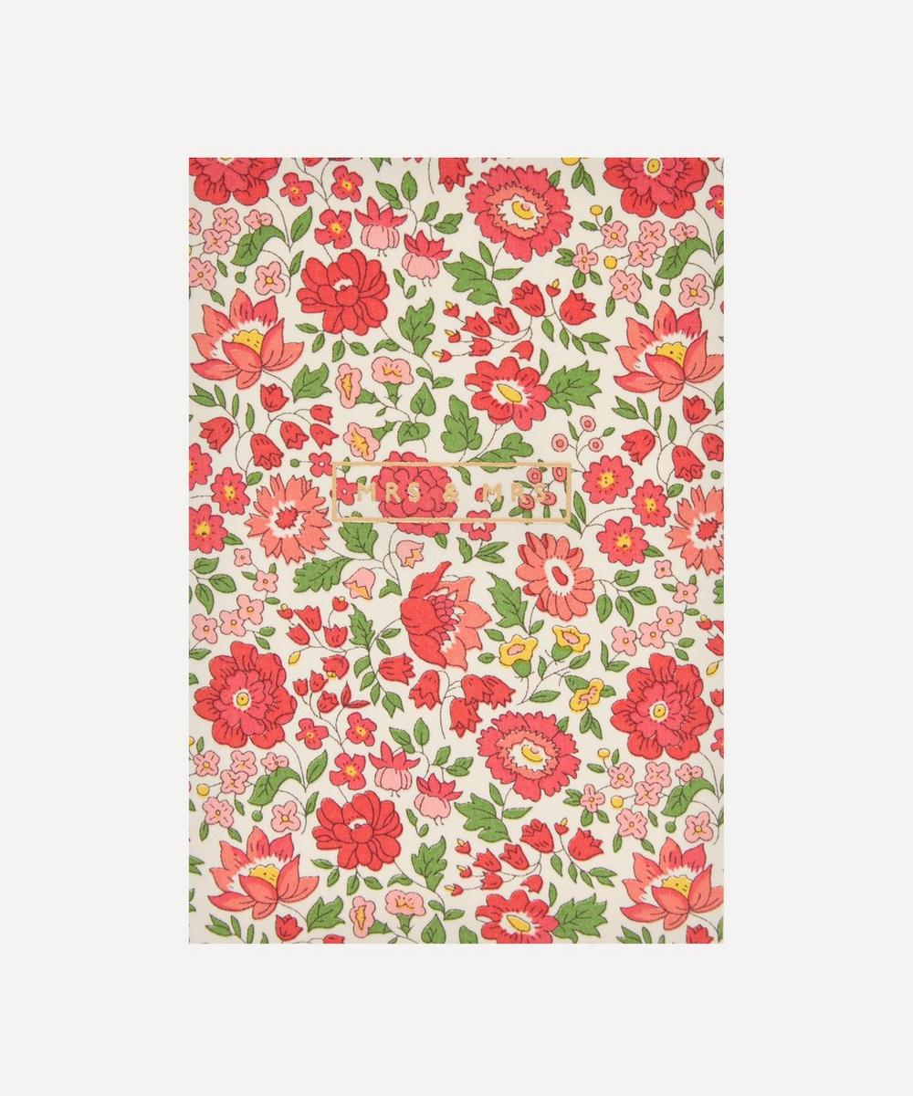 Liberty London - Danjo Cotton-Covered Mrs and Mrs Card