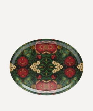 Pink Bouquet Oval Tray