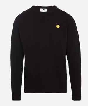 Mel Small AA Logo Long Sleeve Cotton T-Shirt