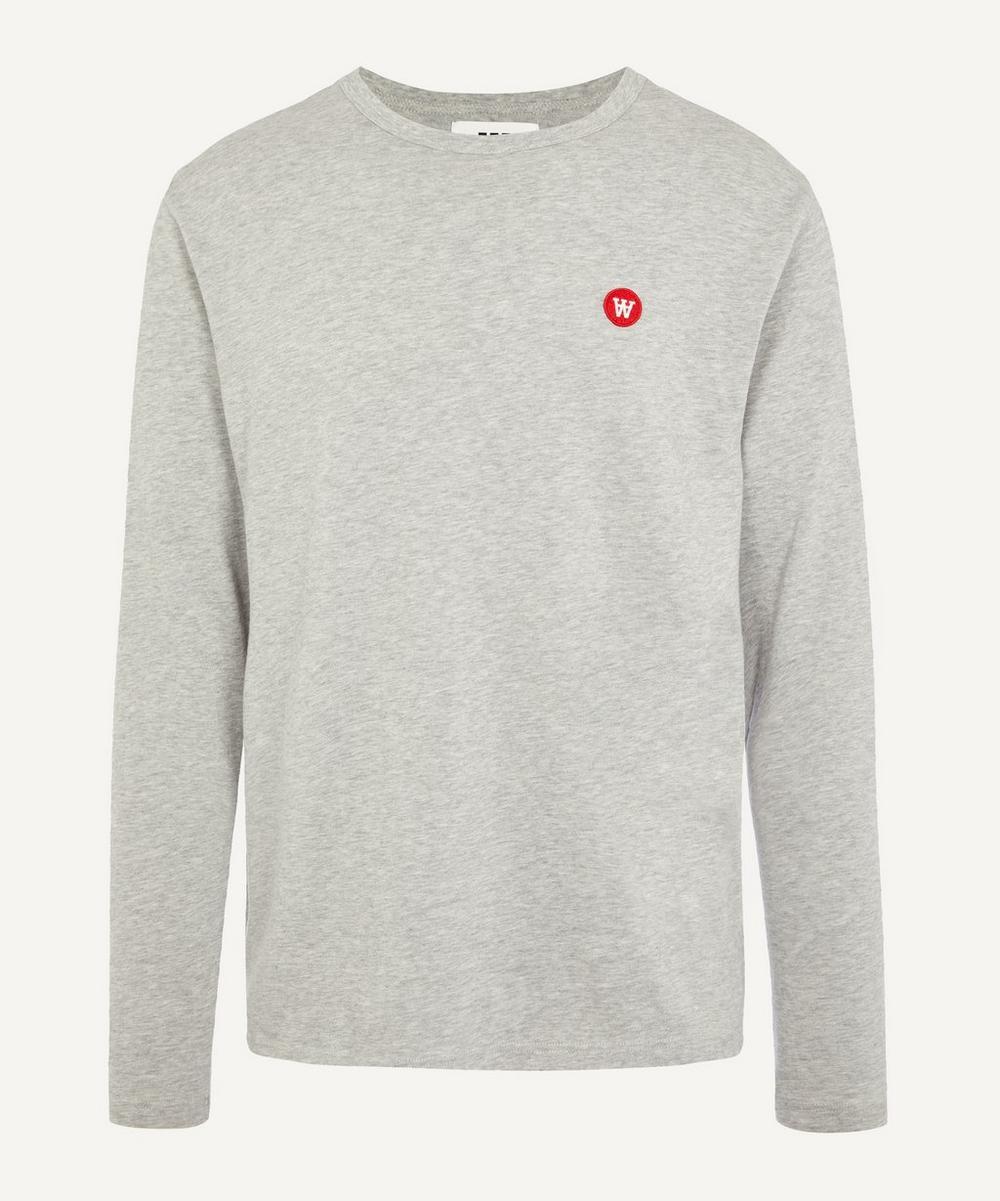 Wood Wood - Mel Small AA Logo Long Sleeve Cotton T-Shirt
