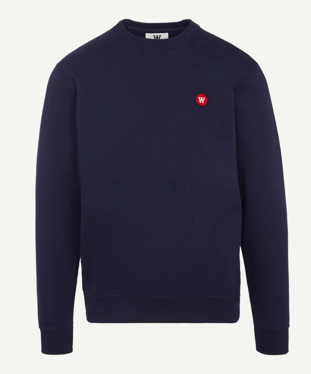 Wood Wood - Tye Small AA Logo Cotton Sweater