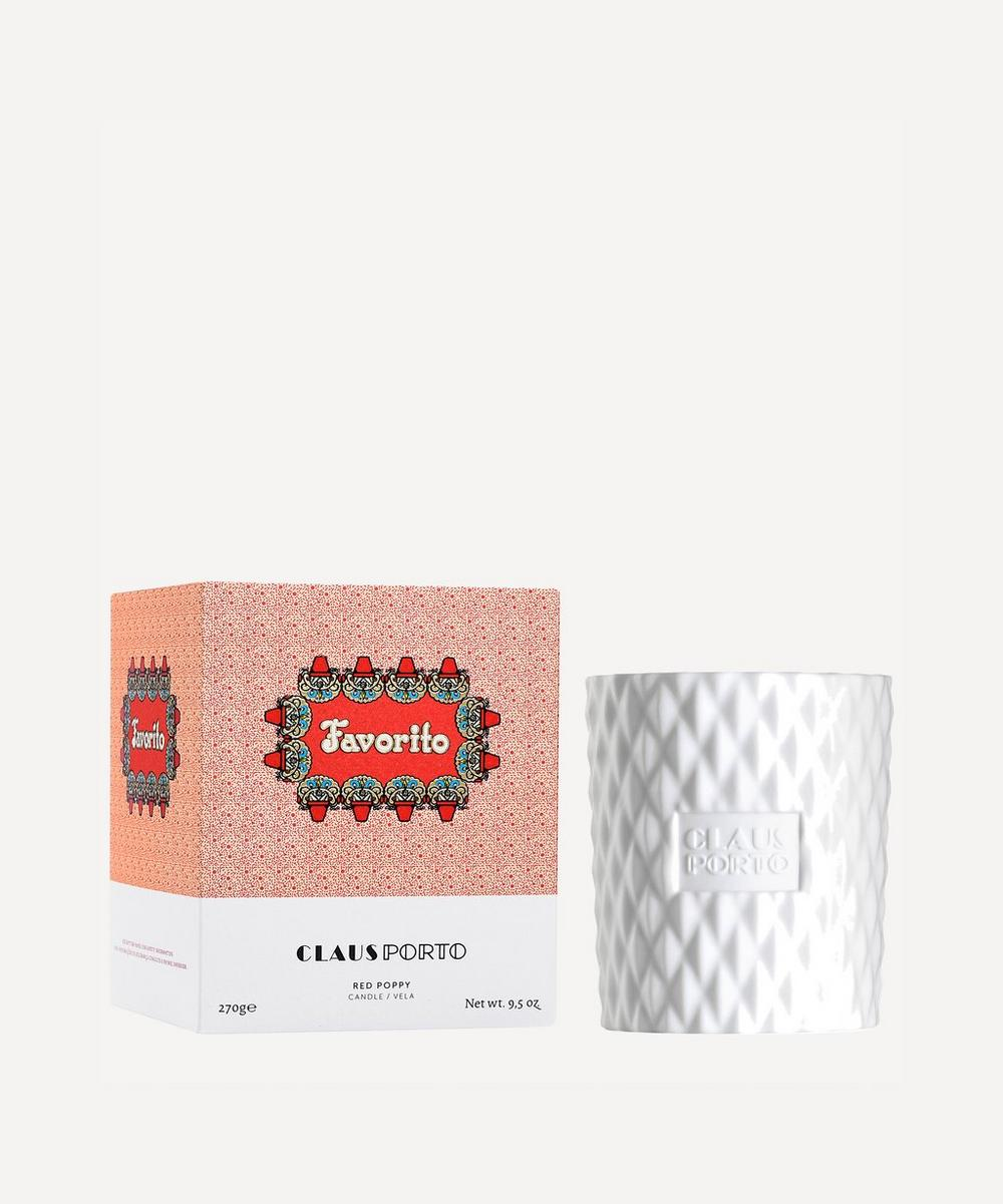 Claus Porto - Favorito Red Poppy Scented Candle 270g