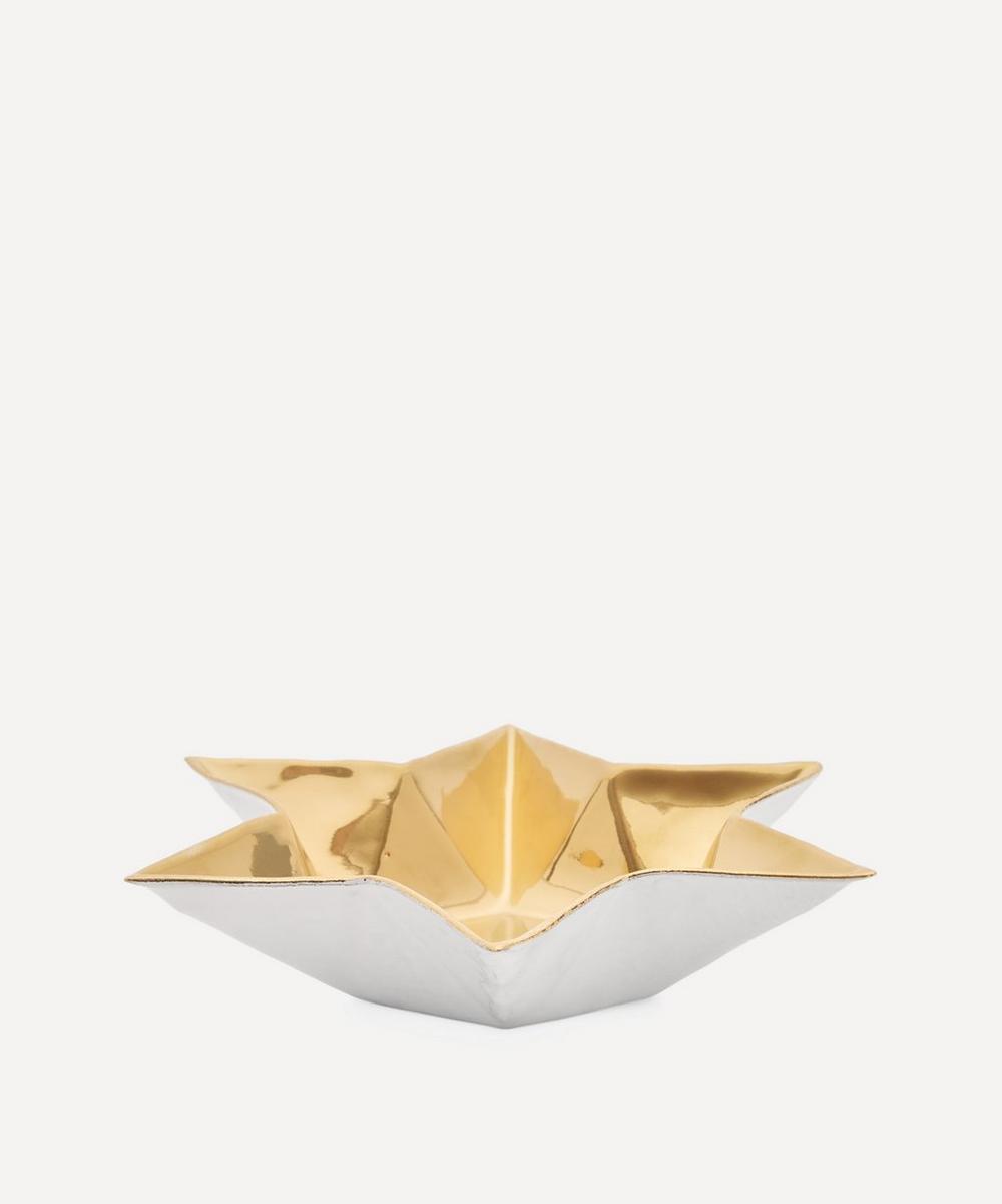 Astier de Villatte - Etoile Golden Soup Plate