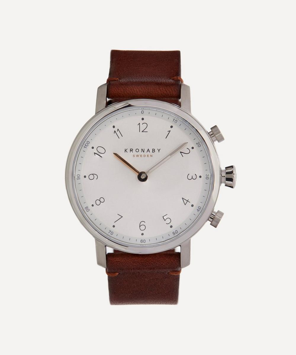 Kronaby - Nord Leather Strap Smart Watch