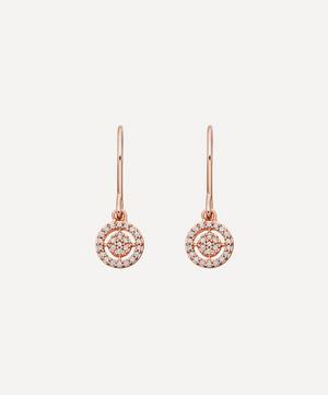 Rose Gold Mini Icon Aura Drop Earrings