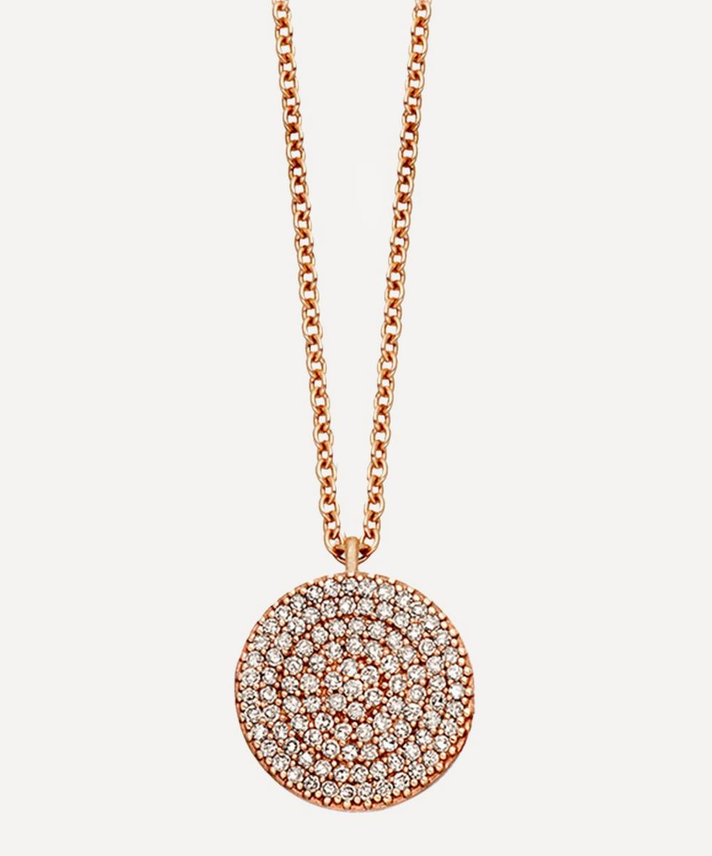 Astley Clarke - Rose Gold Icon Diamond Pendant Necklace
