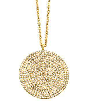 Gold Large Icon Diamond Pendant Necklace