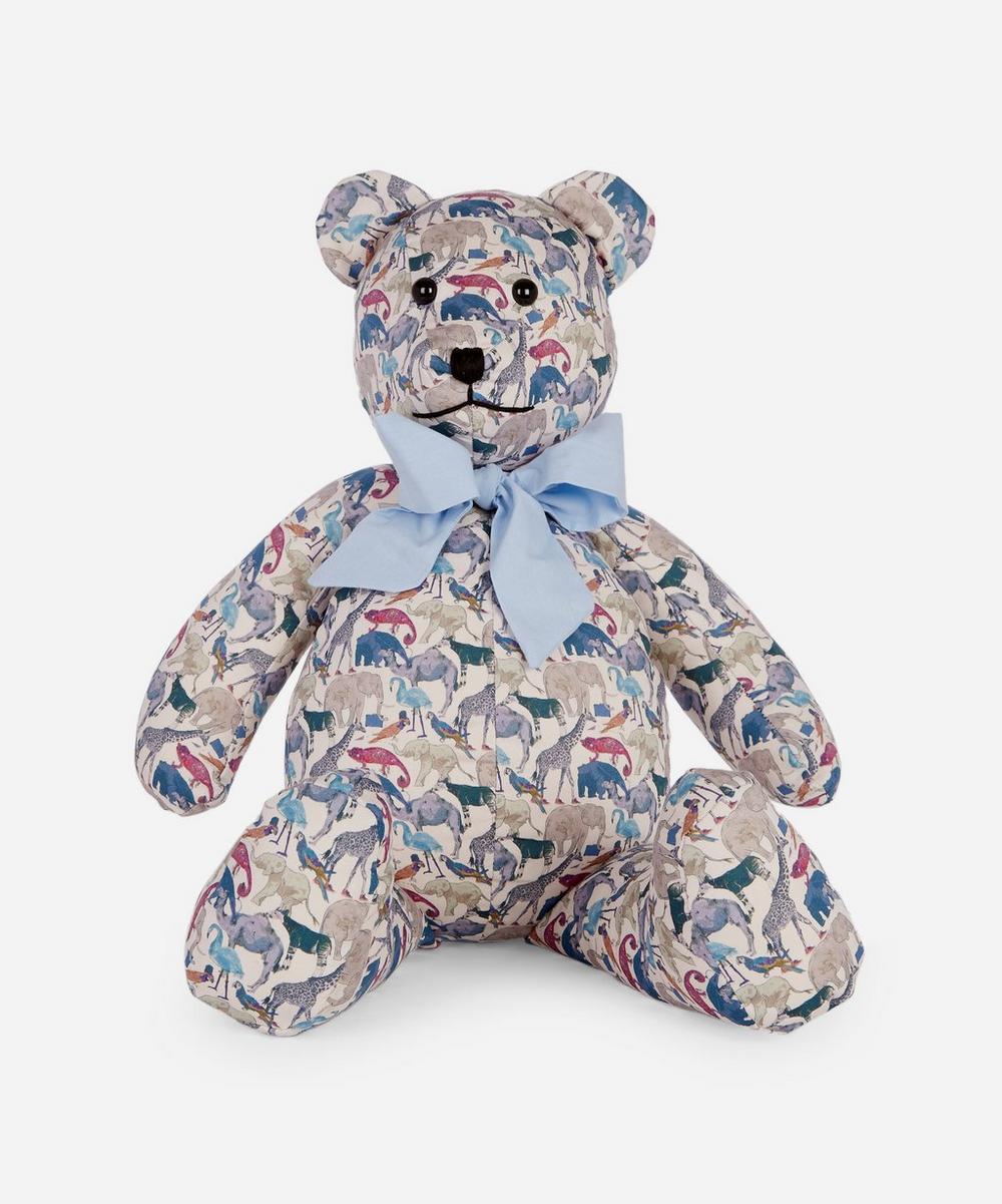 Grin & Bear - Queue For The Zoo Liberty Print Bear