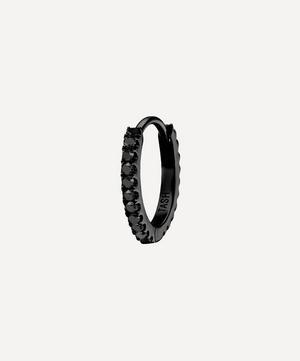 """1/4"""" Black Diamond Eternity Hoop Earring"""