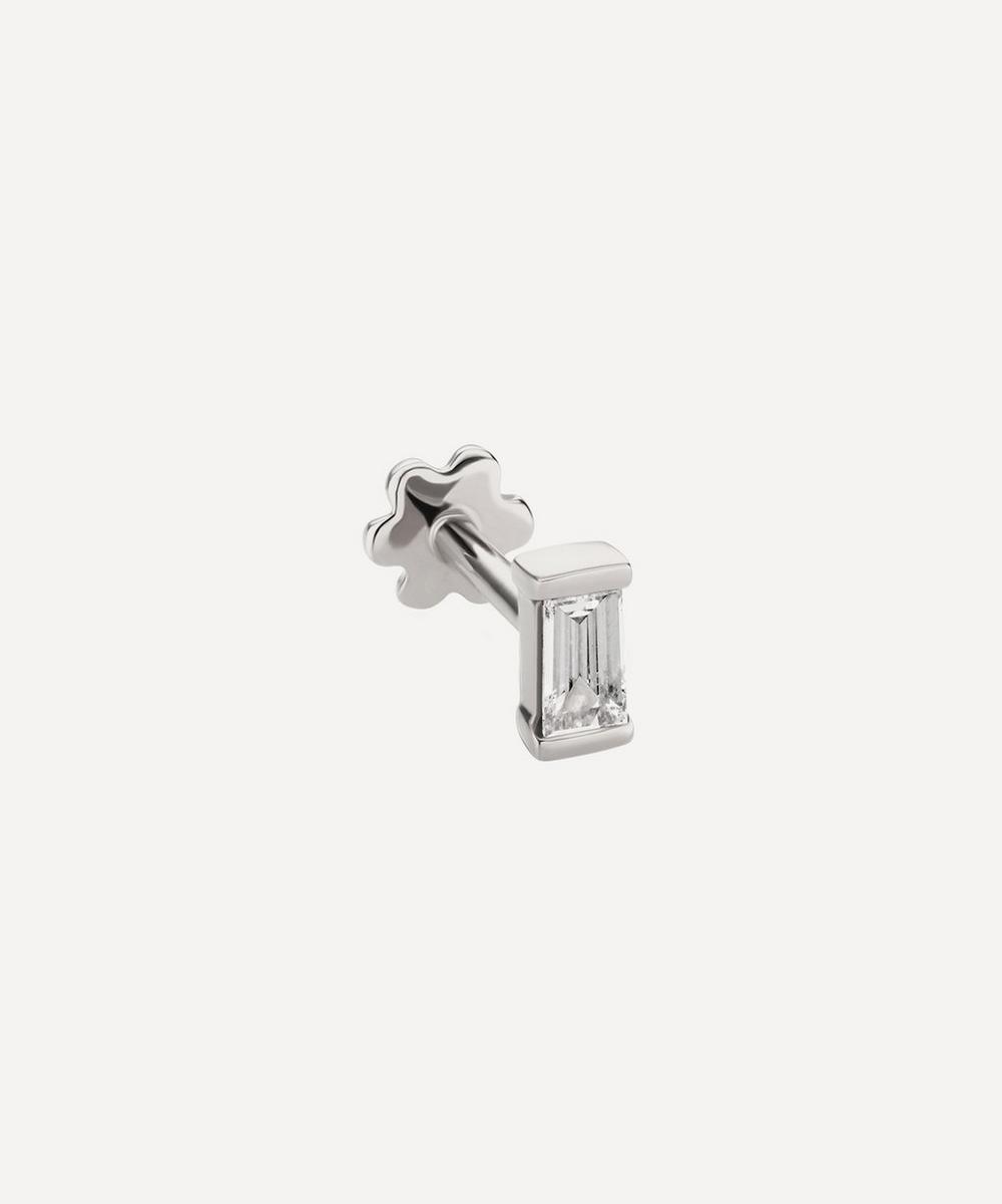 Maria Tash - Diamond Baguette Threaded Stud Earring