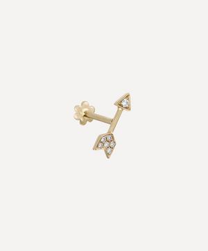 10mm Diamond Arrow Threaded Stud Earring