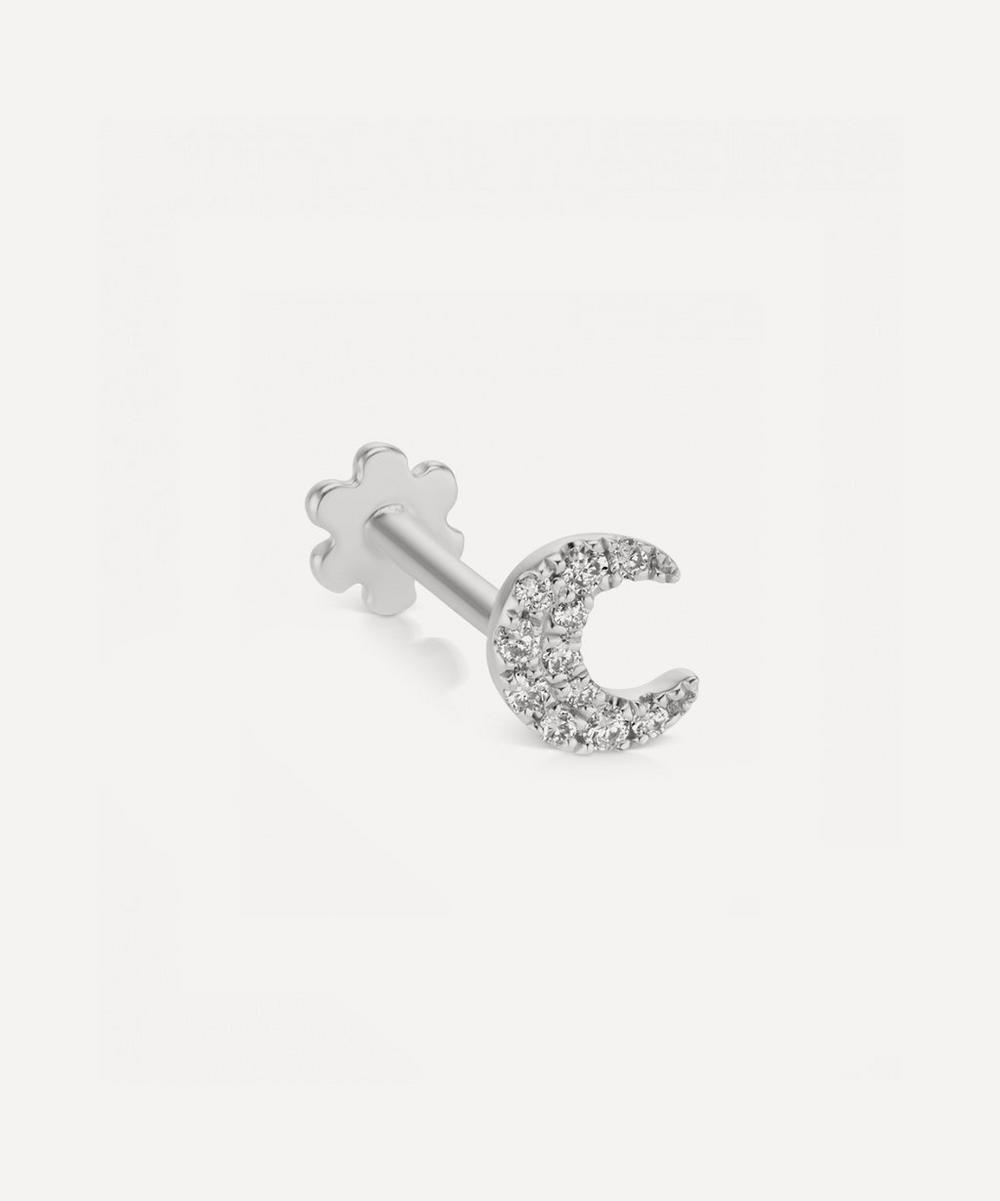 Maria Tash - Small Diamond Moon Threaded Stud Earring