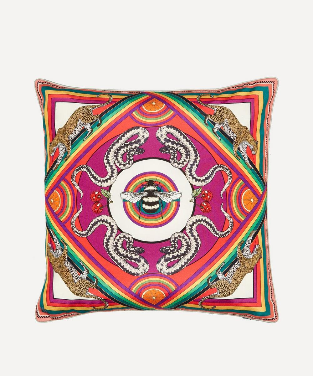 Silken Favours - Trippy Town Cushion