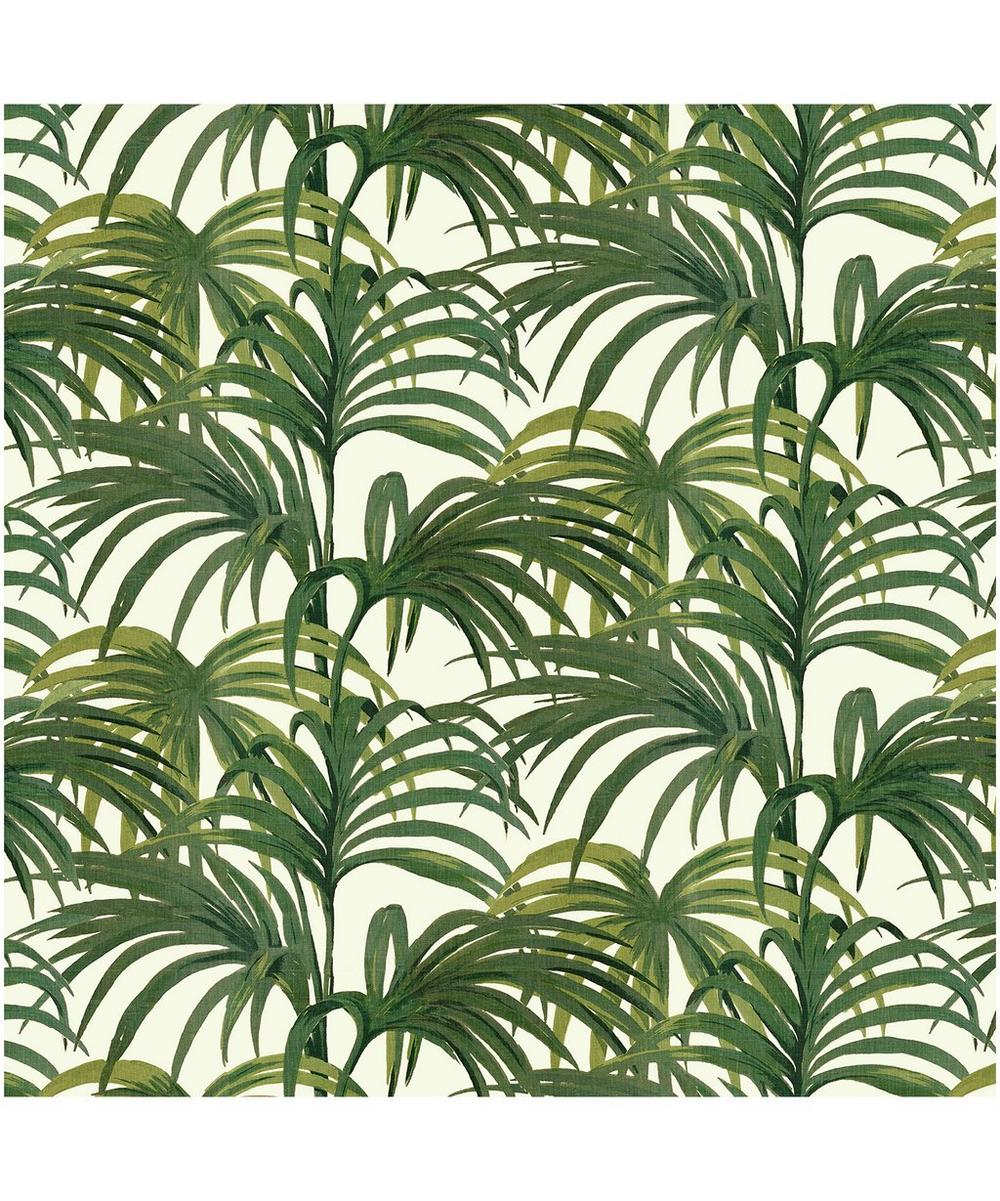 House of Hackney - White & Green Palmeral Wallpaper