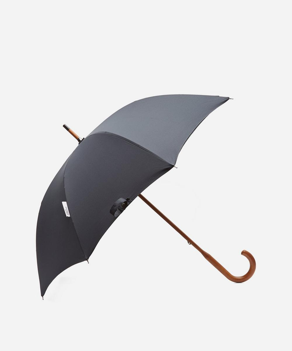London Undercover - Watch Tartan Interior Classic Maple Wood Umbrella