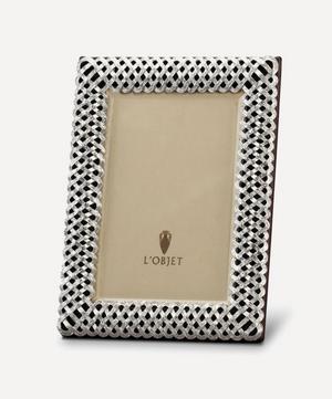 "Braid Platinum-Plated 5x7"" Photo Frame"