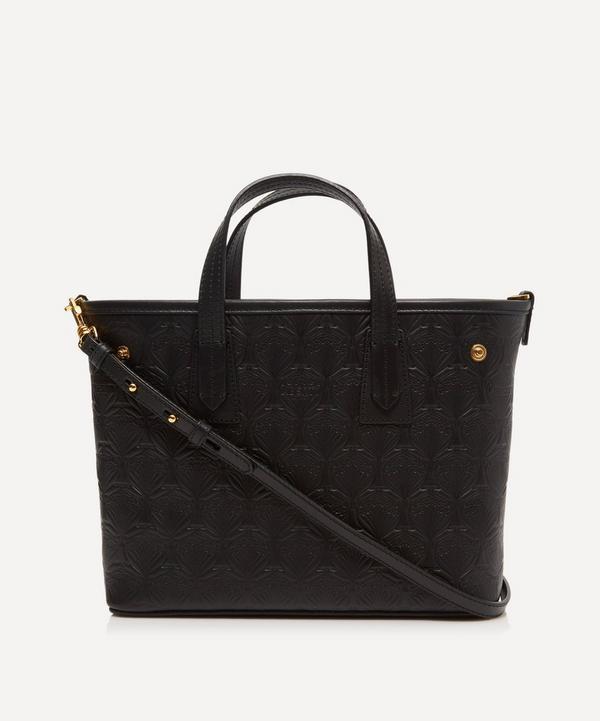 Liberty - Mini Marlborough Cross-Body Tote Bag in Embossed Leather