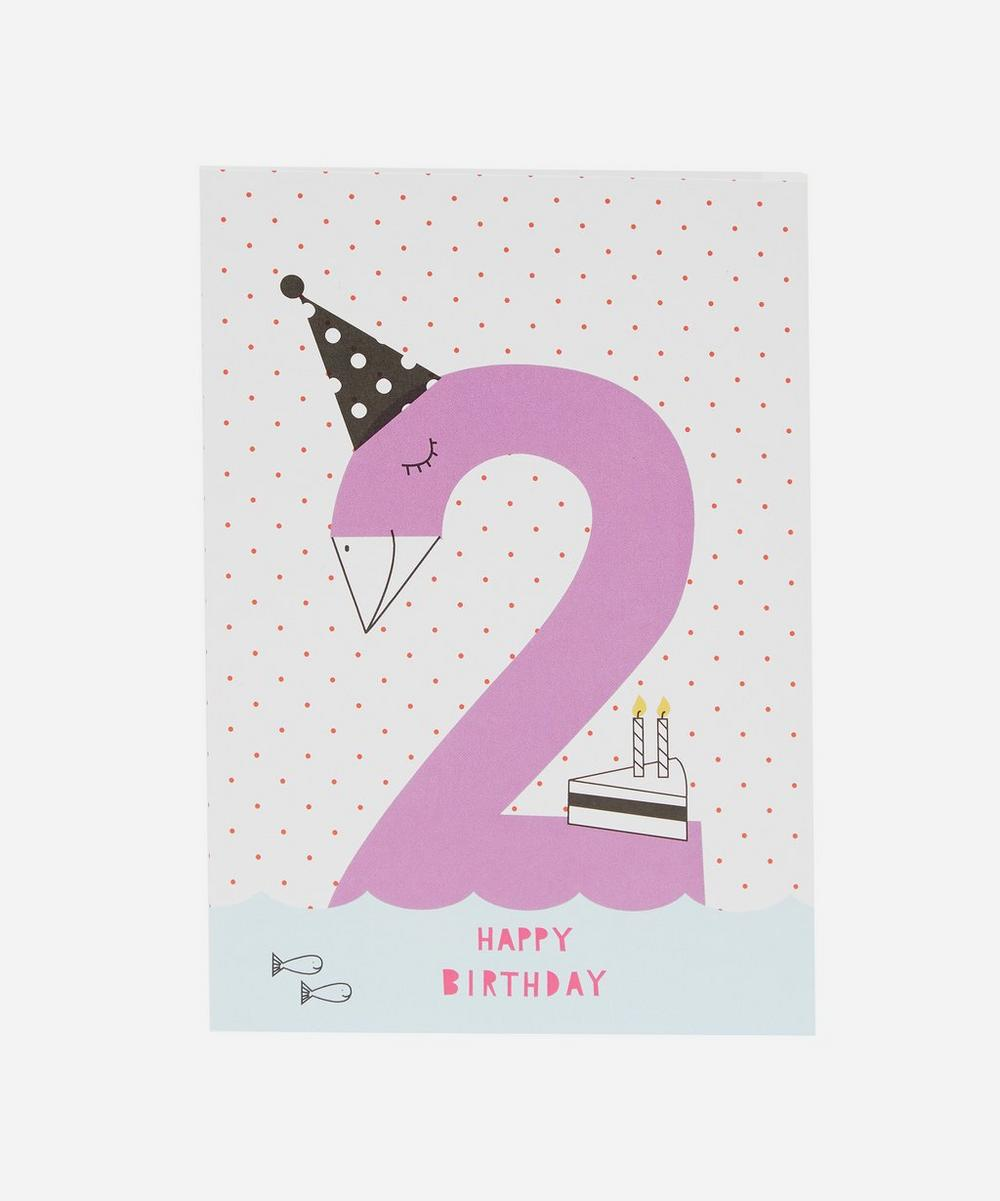Karin Akesson - Happy Birthday Age 2 Card