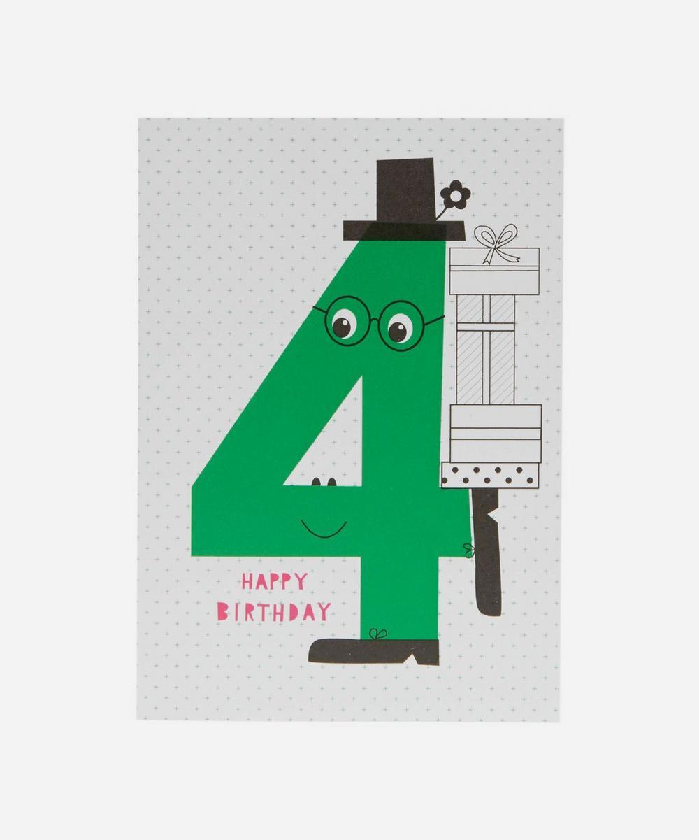Karin Akesson - Happy Birthday Age 4 Card