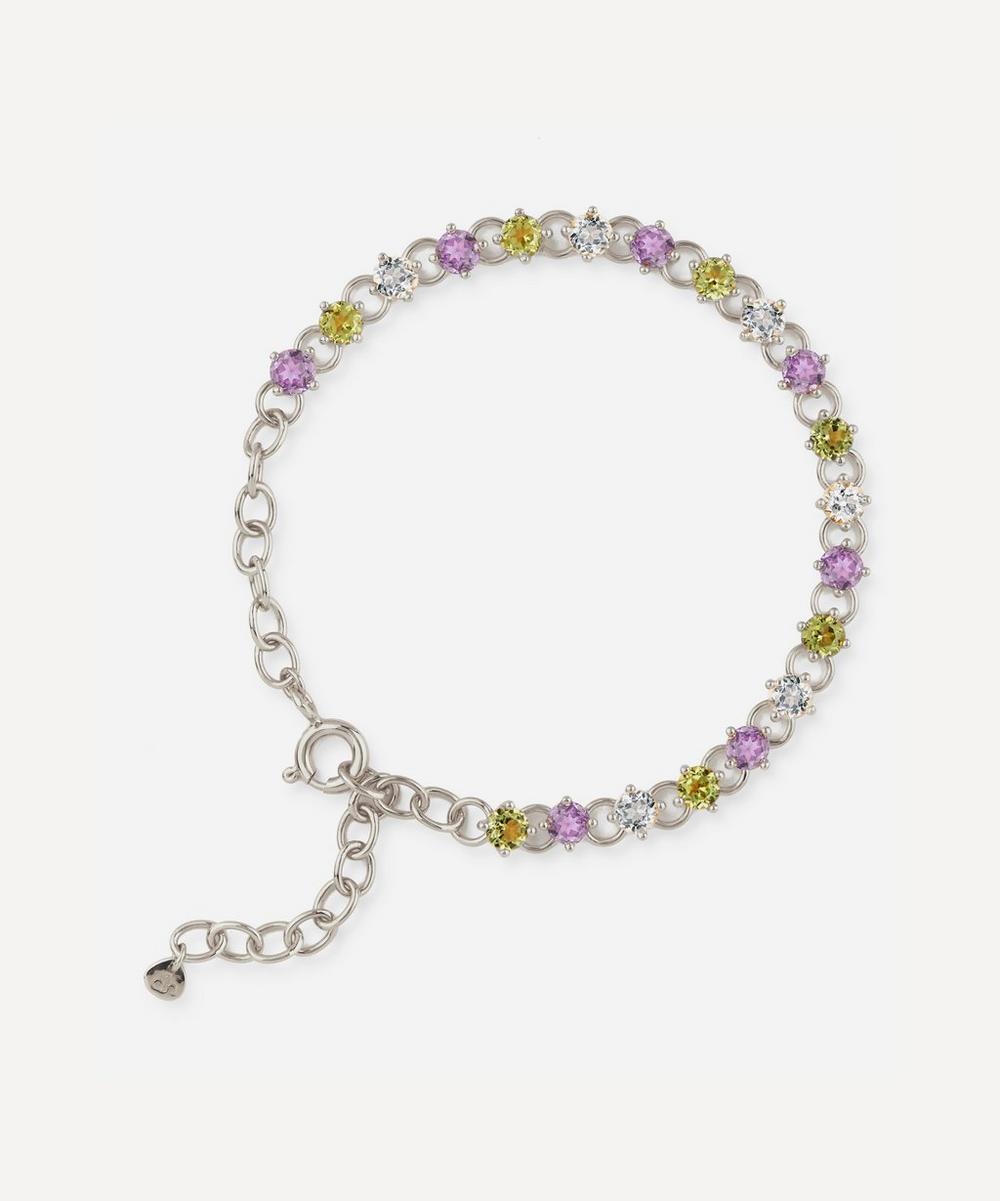 Dinny Hall - Suffragette Sterling Silver Gem Drop Bracelet