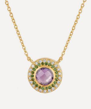Suffragette Gold Halo Pendant Necklace