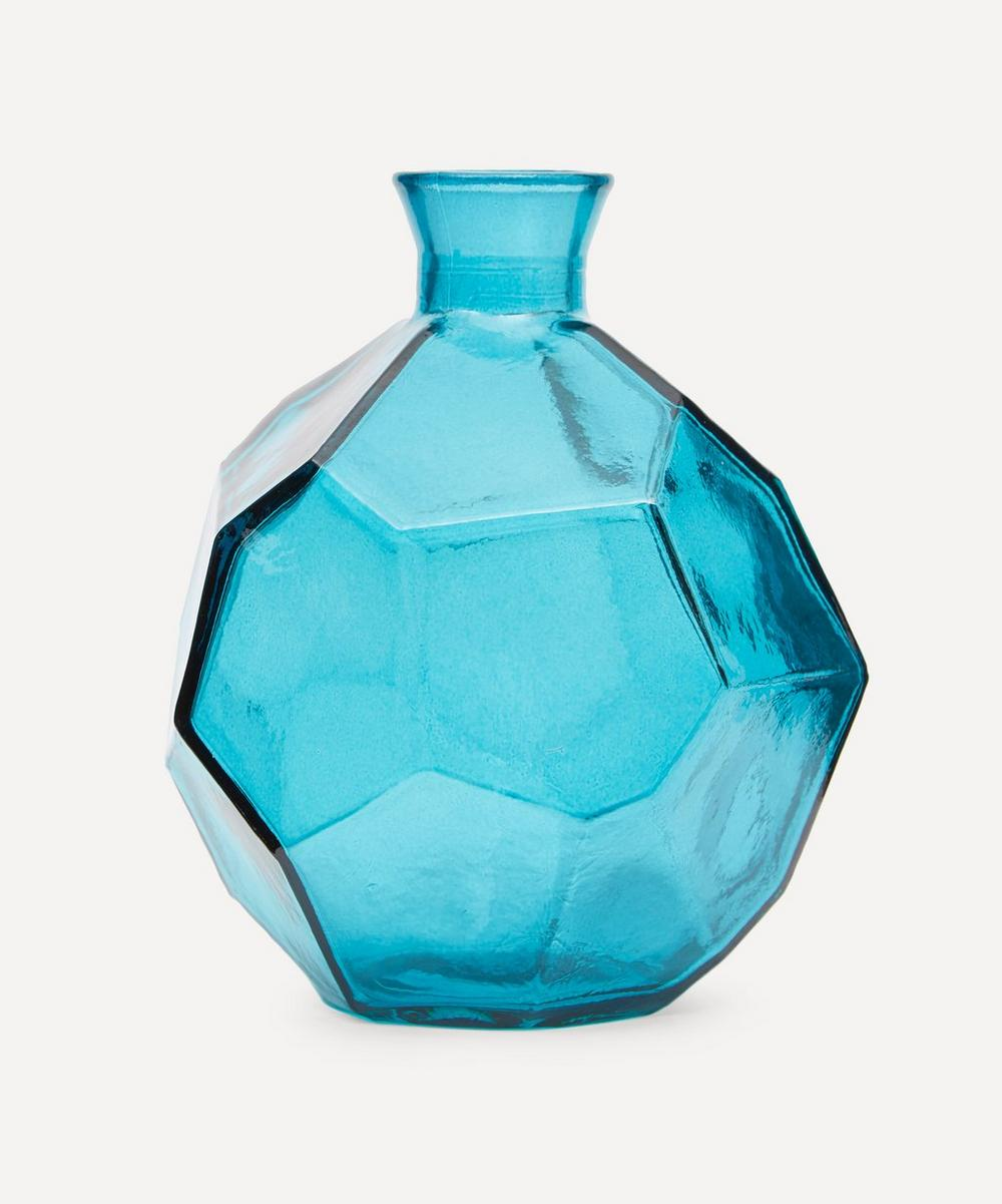 San Miguel Recycled Glass - Short Origami Vase