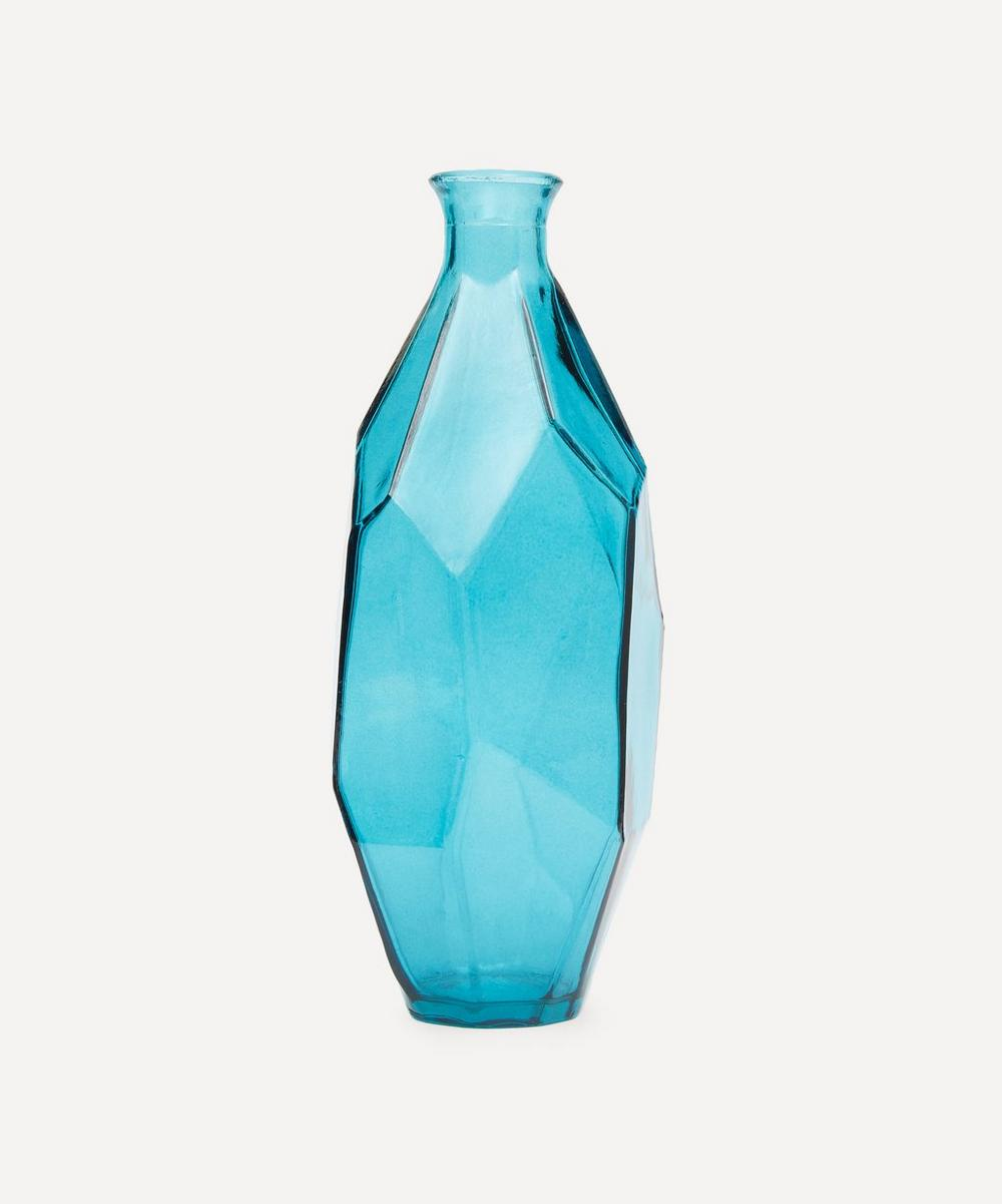 San Miguel Recycled Glass - Slim Curved Origami Vase