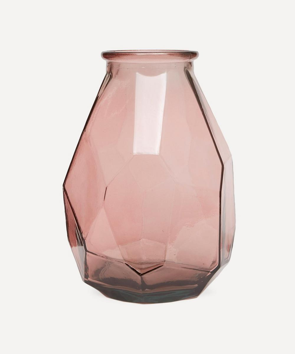 San Miguel Recycled Glass - Thick Origami Vase