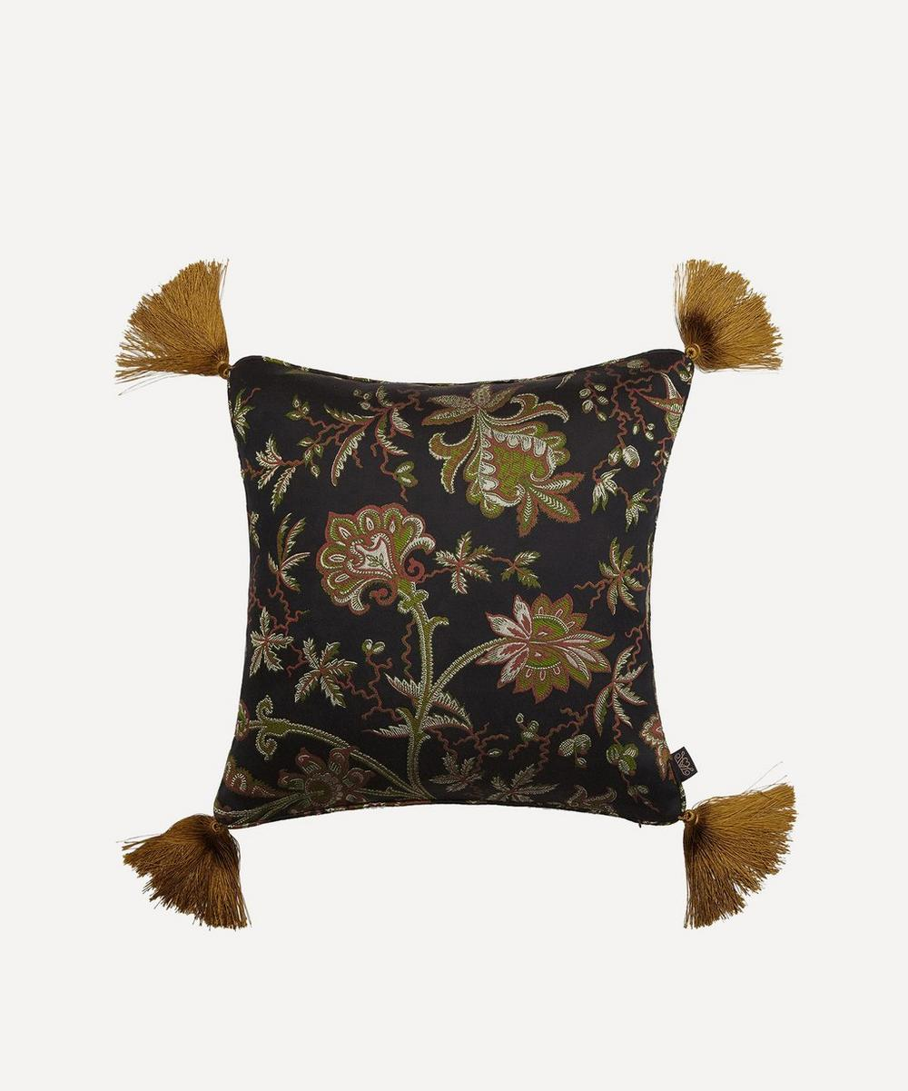 House of Hackney - Medium Indienne Tasselled Jacquard Cushion