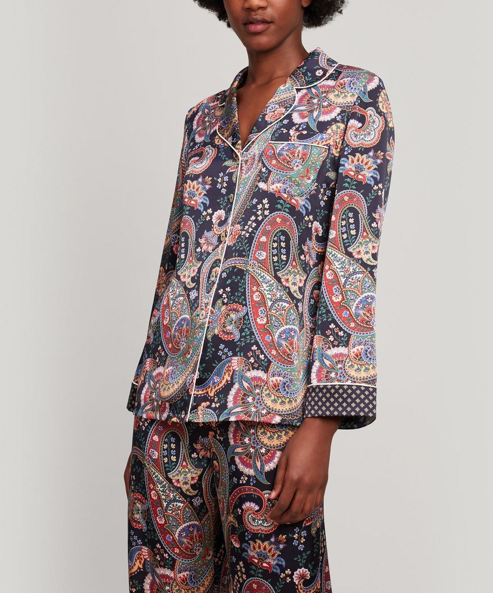 Liberty - Florence Silk Satin Long Pyjama Set