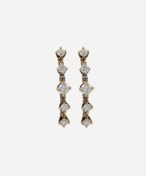 Gold Homespun Five-Stone White Diamond Earrings