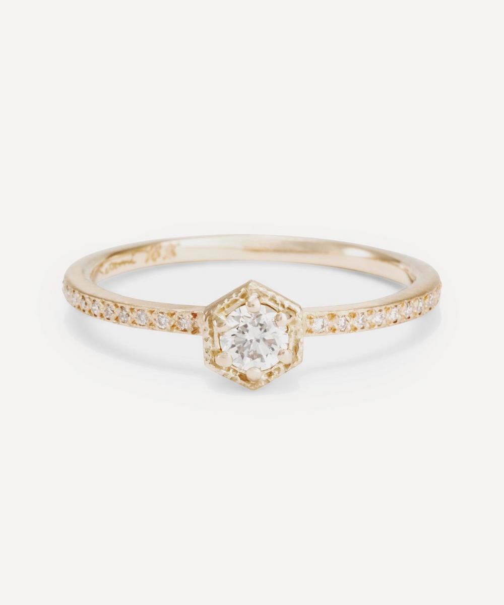 Satomi Kawakita - Rose Gold White Diamond Solitaire Eternity Ring