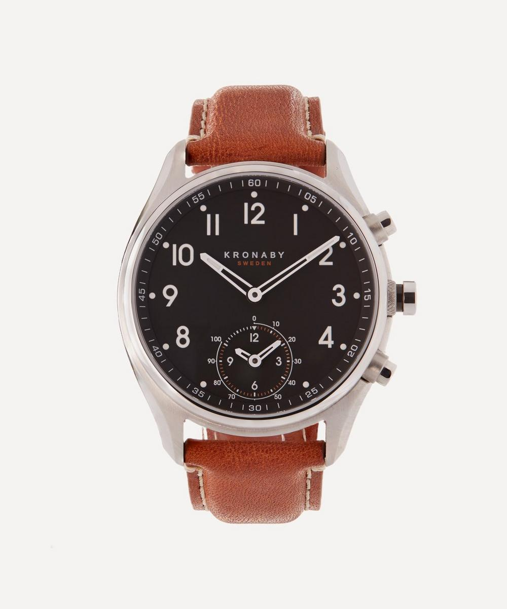 Kronaby - Apex Leather Dial Smart Watch