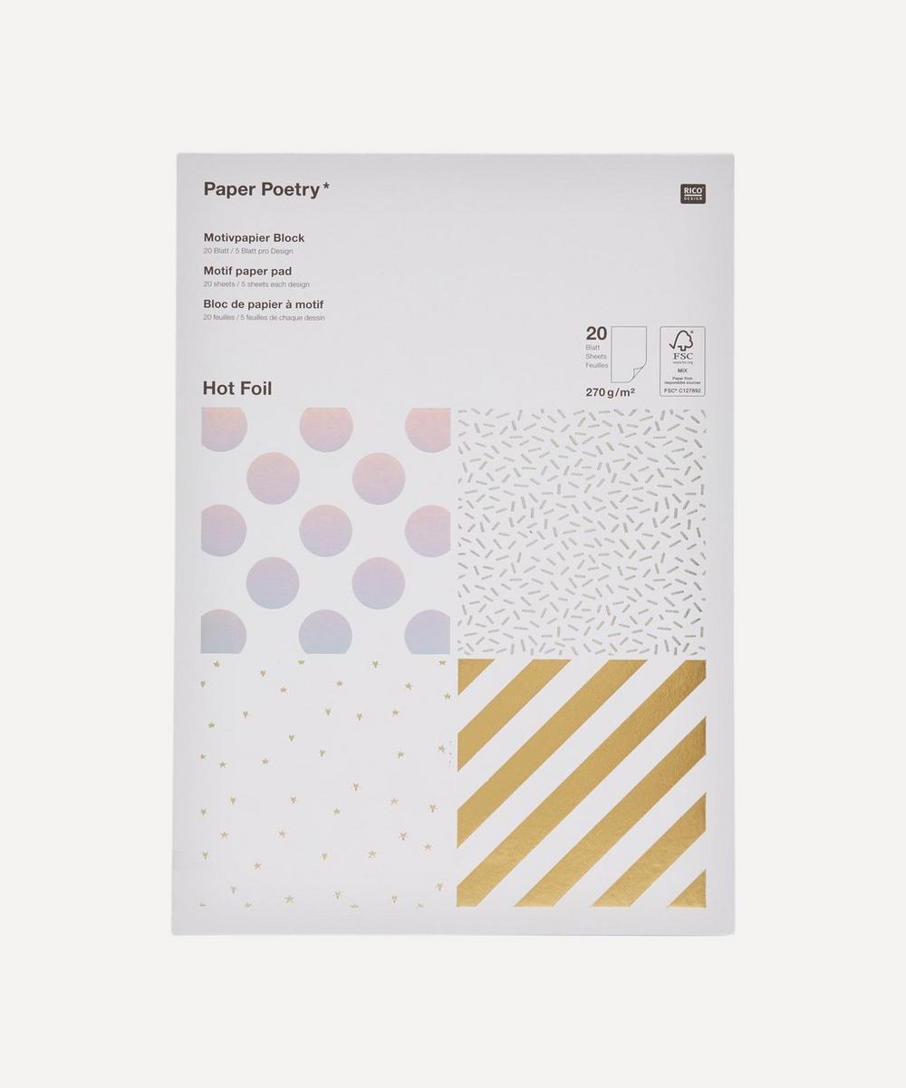 Rico Design - Paper Poetry Hot Foil Motif Paper Pad