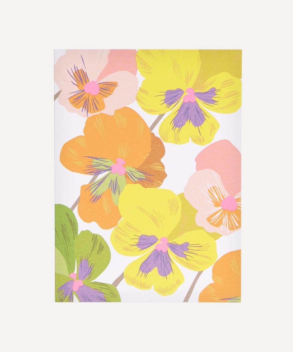 Noi - Pansies Thank You Notecard Set